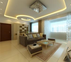 110平米现代简约客厅装修效果图赏析