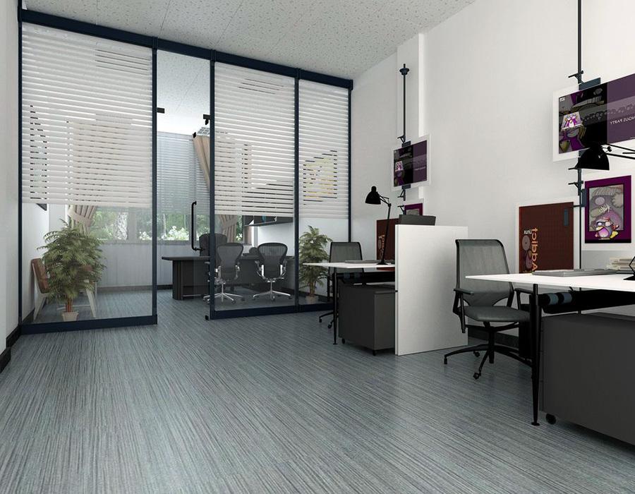 60平办公室装修效果图