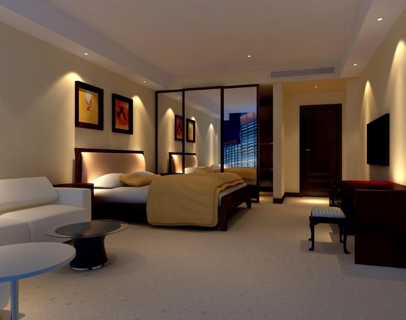 现代简约酒店装修效果图赏析