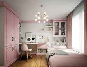 小清新榻榻米卧室装修效果图例