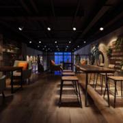 90平米美式风格咖啡厅装修效果图