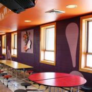 学校学生餐厅装修效果图赏析
