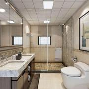 现代中式卫生间装修效果图