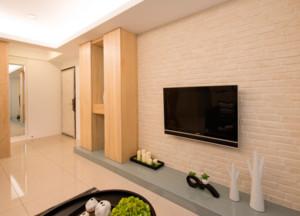 现代简约大户型客厅电视背景墙装修效果图