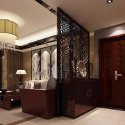 中式客厅隔断设计效果图