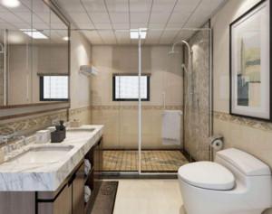 80平米现代风格卫生间装修设计效果图