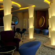欧式简约咖啡厅装修效果图赏析