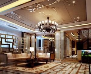 中式风格客厅吊顶装修设计效果图赏析