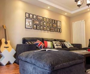 90平米美式风格照片墙装修设计效果图