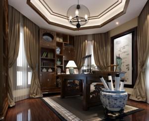 中式风格书房装修设计效果图
