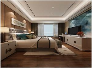 新中式卧室装修风格效果图