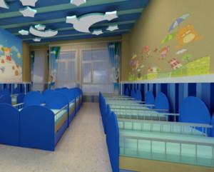 清新风格幼儿园装修设计效果图