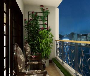 现代风格阳台装修设计效果图