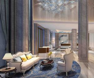 现代简约风格酒店装修设计效果图