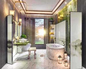 新中式风格卫生间效果图
