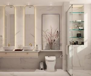 后现代风格别墅卫生间装修图片