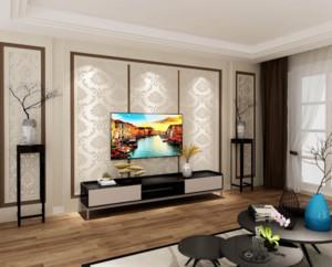 现代简约风格电视背景墙装修设计效果图