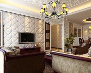 现代简欧风格客厅吊顶装修设计效果图