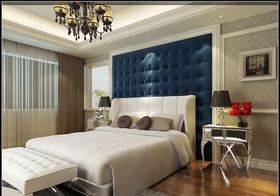 歐式臥室背景墻裝修效果圖