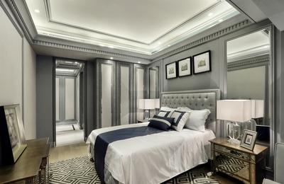 簡歐臥室背景墻裝修效果圖
