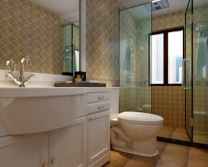 90平米现代简约风格卫生间装修设计效果图