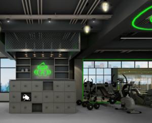 现代简约风格健身房装修设计效果图