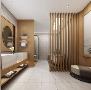 中式原木风卫生间装修效果图