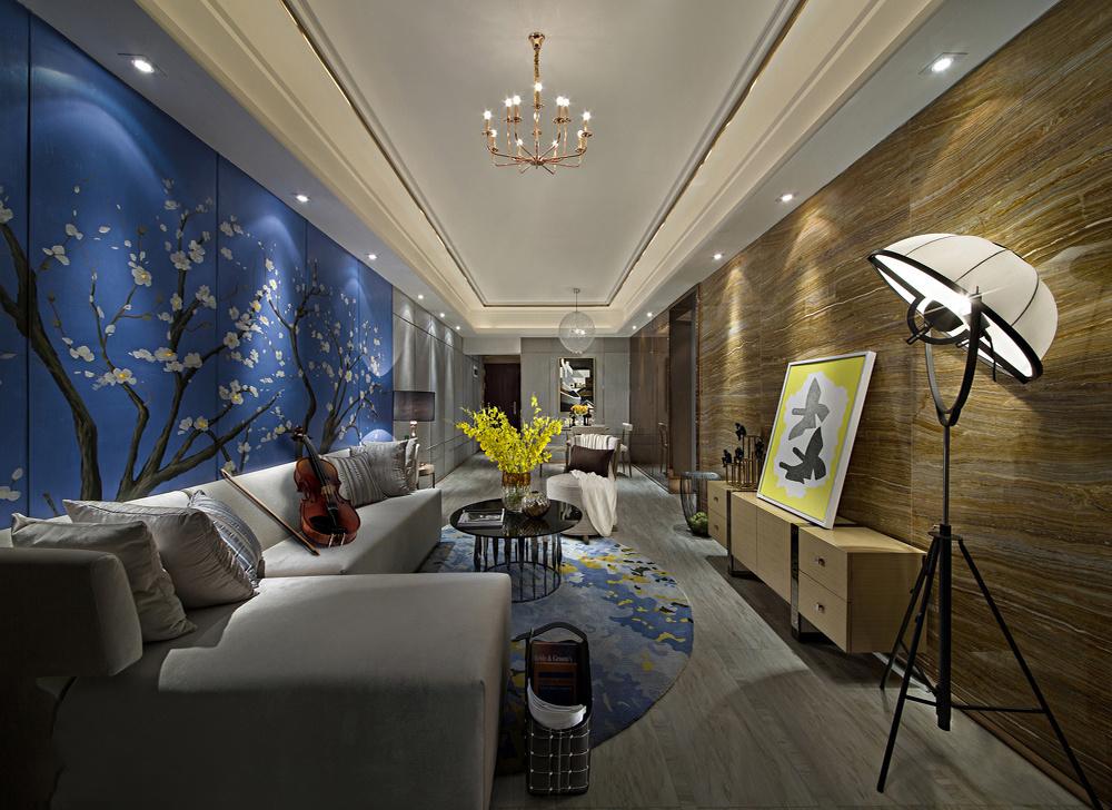 现代化客厅背景墙装修效果图