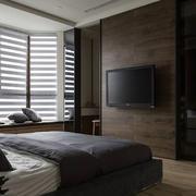 极简风卧室背景墙装修效果图
