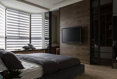 極簡風臥室背景墻裝修效果圖