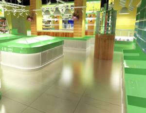 60平米现代风格水果店装修设计效果图
