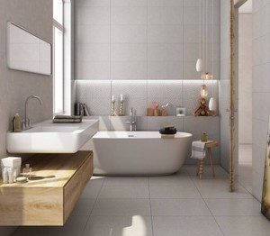 现代别墅卫生间瓷砖装修效果图