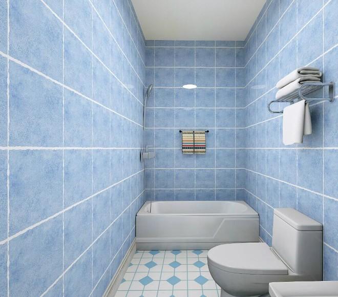 小户型卫生间瓷砖装修效果图