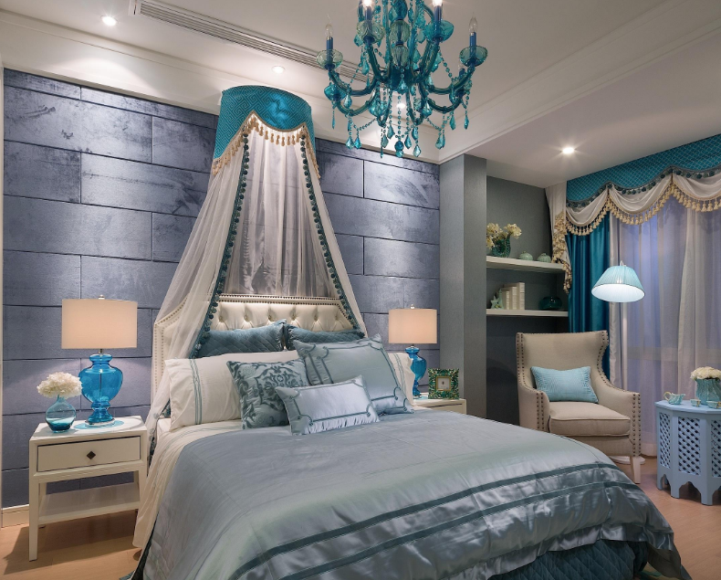 现代简欧风格卧室装修效果图