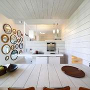 极简风厨房餐厅一体装修效果图