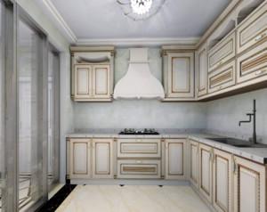 现代简欧风格厨房吊顶装修设计效果图