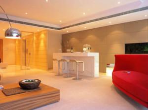 90平米现代风格吧台装修设计效果图