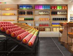 60平米现代简约水果店装修设计效果图