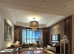 新中式吊灯客厅装修效果图大全