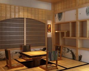 日式风格卧室榻榻米装修设计效果图