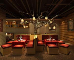 90平米简欧风格餐厅装修设计效果图