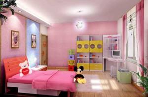 浪漫粉色儿童房装修案列效果图
