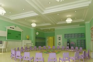 清新幼儿园室内装修效果图赏析
