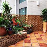 20平米露台花园小清新效果图