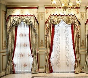 欧式风格窗帘装修效果图