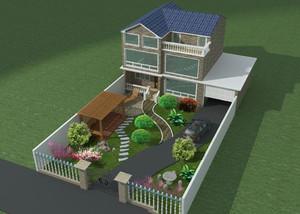 别墅花园设计效果图