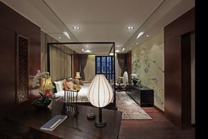 中式卧室书房装修效果图