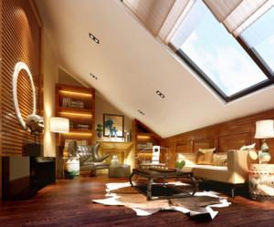 90平米混搭风格阁楼装修设计效果图赏析