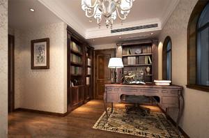 欧式古典书房装修效果图