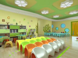 自然幼儿园室内装修案列赏析